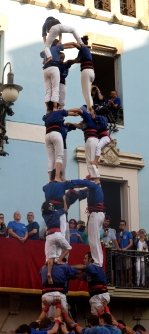 Human Tower during Festa Major de Gracia; Barcelona, Spain