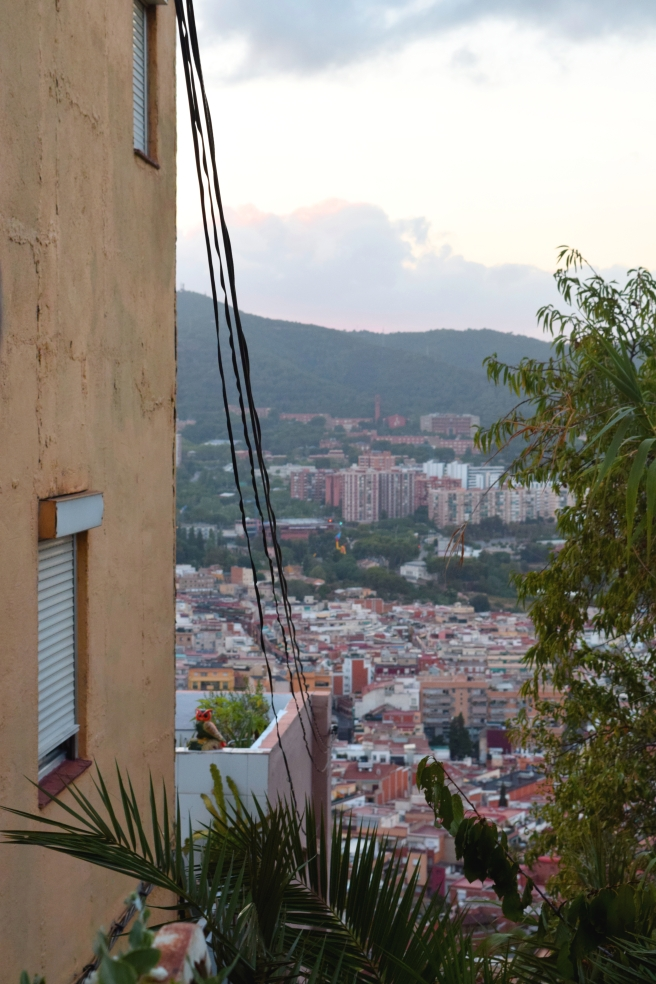 View from the trek up to Bunkers del Carmel; Barcelona, Spain